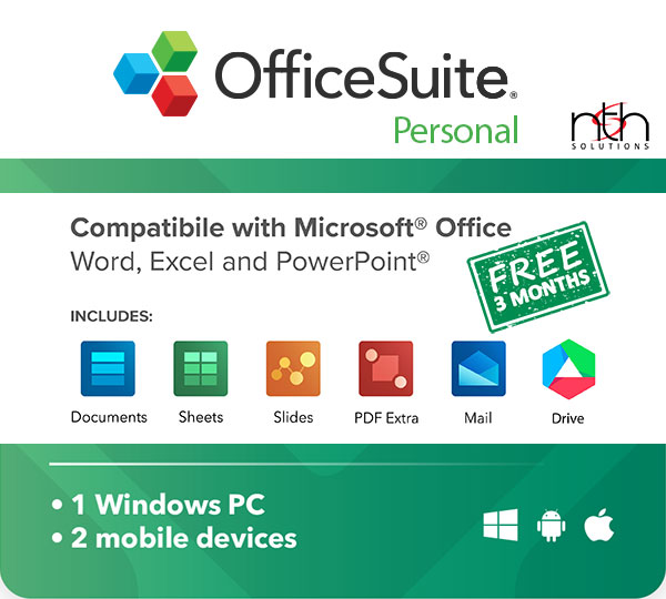 Get OfficeSuite Personal for 3 months FREE